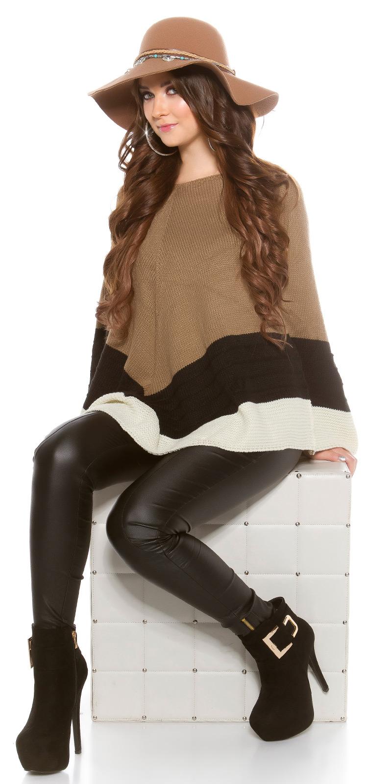 Elegant Ladies Poncho Sweater Cardigan Knitted Poncho ...