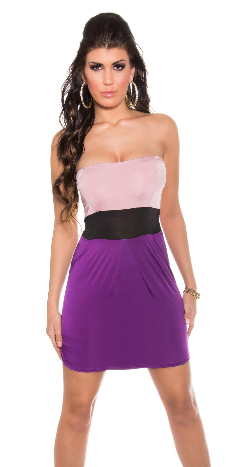 Sexy Kleid Minikleid Abendkleid Cocktailkleid Bandeaukleid Party ...
