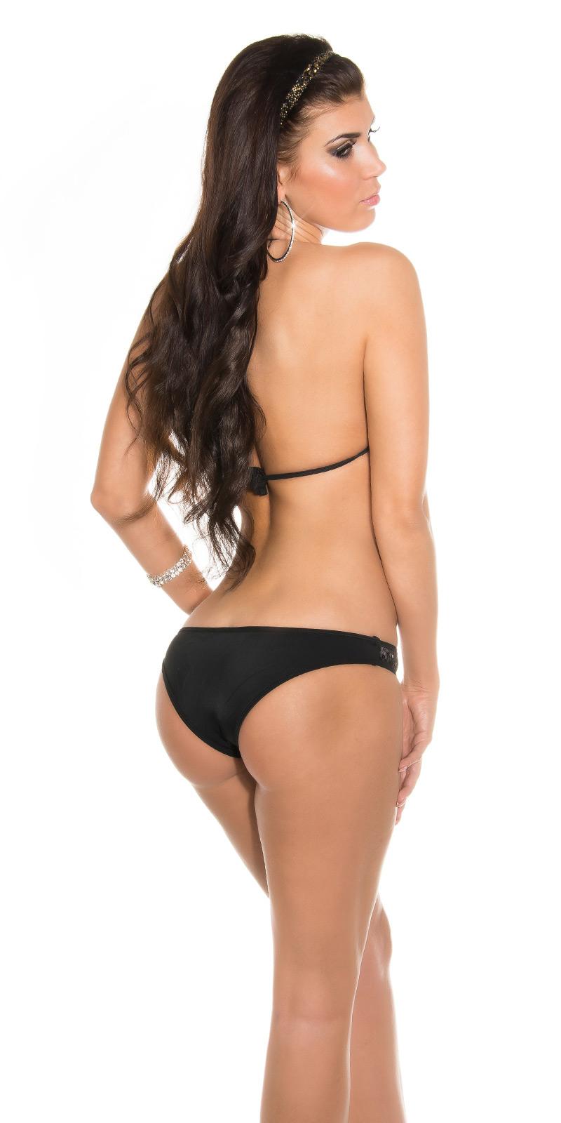 neckholder bikini pailletten push up triangle tankini. Black Bedroom Furniture Sets. Home Design Ideas