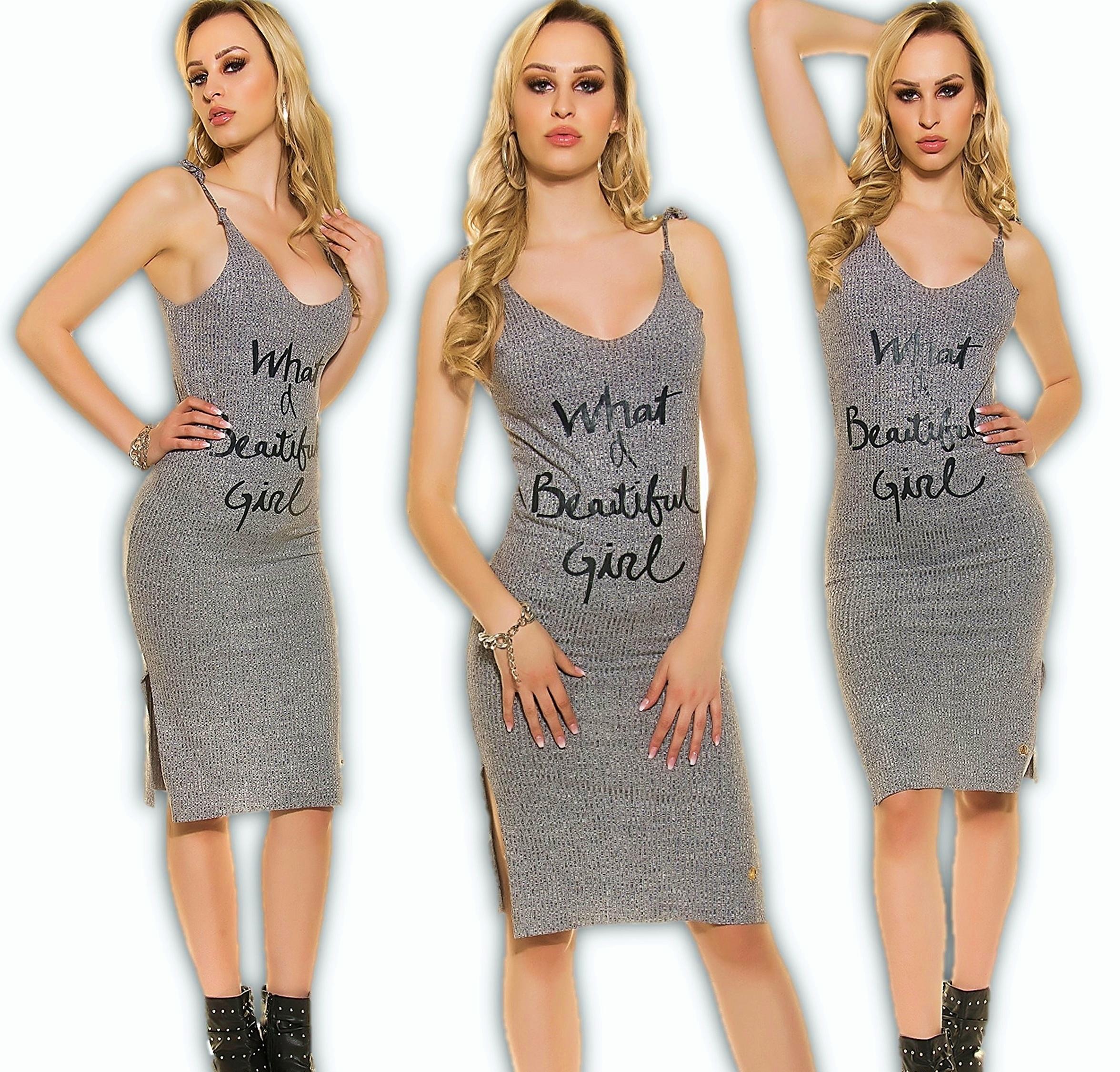 Sexy Kleid Feinripp Minikleid Sommerkleid Partykleid Trägerkleid Top ...